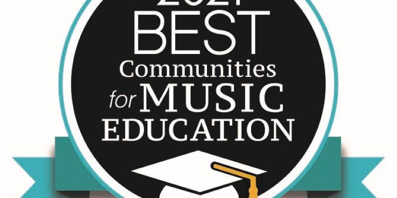 Image logo for 2021 Best Communities for Music Education
